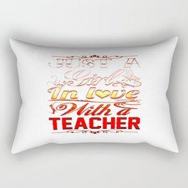 In love with a Teacher Rectangular Pillow