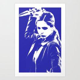 Buffy the Vampire Slayer - Blue Art Print