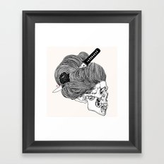 A Lady From Japan Framed Art Print
