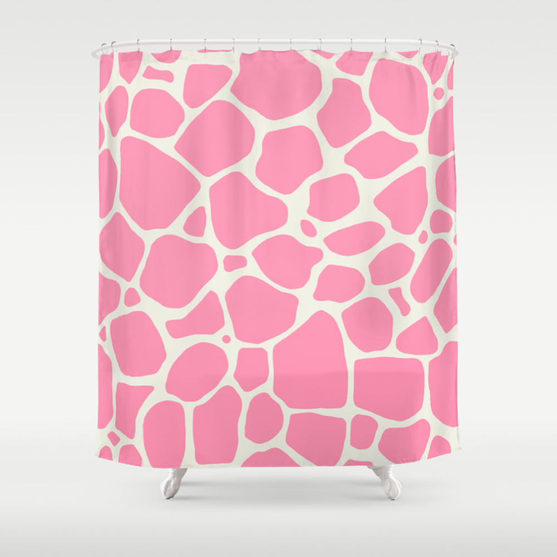 Cute Pink Giraffe Skin Pattern Shower Curtain by Fbmovercrafts CTN8051675