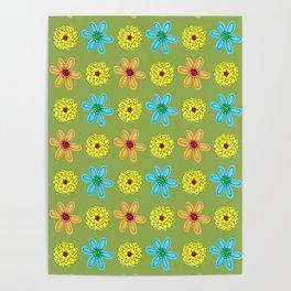 Groovy Flower Power 70's Pop Art Poster