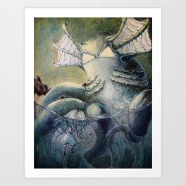 Fear Series - Scene 3: Fear in the Water Art Print
