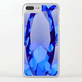 SEPTEMBER BLUE SAPPHIRE GEMS BIRTHSTONES Clear iPhone Case
