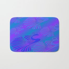 Peacocks / Abstract Bath Mat