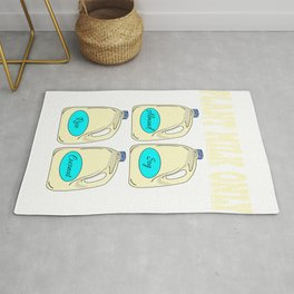 Have been a milk addict ever since?Hoping milk is the only thing that ever existed?Perfect tee here! Rug