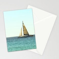 Sail Away with Me - Ocean, Sea, Blue Sky and Summer Sun Stationery Cards