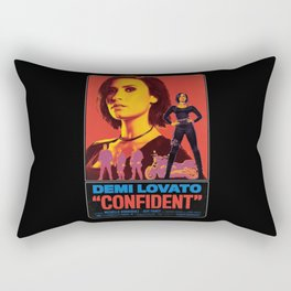 """CONFIDENT"" - Demi L. Rectangular Pillow"