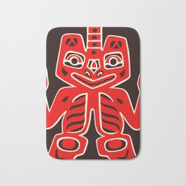 Haida Indians Alaska Blanket Design Bath Mat