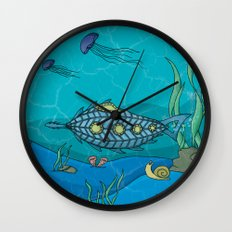 Nautilus under the sea Wall Clock