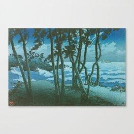 Kawase Hasui - Travel Souvenir Third Collection, Izumo, Hinomisaki - Digital Remastered Edition Canvas Print