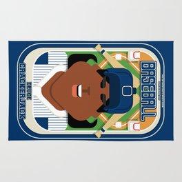 Baseball Blue Pinstripes - Deuce Crackerjack - Aretha version Rug