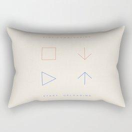 Stop Downloading. Start Uploading. Rectangular Pillow