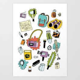 Survival Tools Art Print