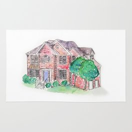 Custom House Painting Rug