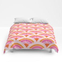 Rainbow connection - tangerine Comforters