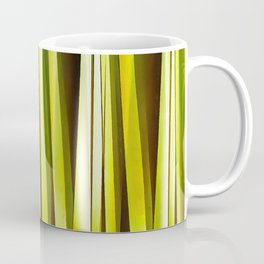 Yellow Ochre and Brown Stripy Lines Pattern Coffee Mug
