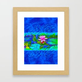 Lotus Blossom Blues Framed Art Print