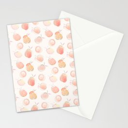 Summer Peaches Fruit Pattern Stationery Cards