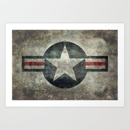 Stylized US Air force Roundel Art Print