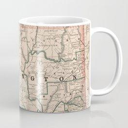 Vintage Map of Washington State (1883) Coffee Mug