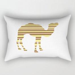 Camel Stripes Rectangular Pillow