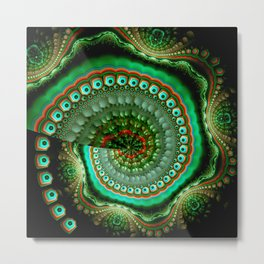 Pretty eyes, swirling pattern abstract Metal Print