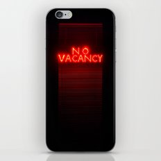 No Vacancy sign in red iPhone & iPod Skin