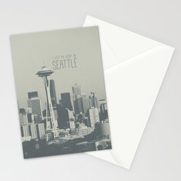 I LEFT MY HEART IN SEATTLE Stationery Cards
