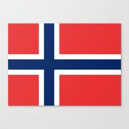 Norwegian Flag Canvas Print