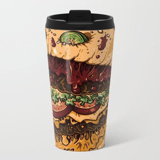 Monster Burger Metal Travel Mug