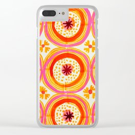 Happy Circles Clear iPhone Case