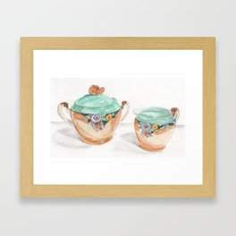Sugar and Creamer Framed Art Print