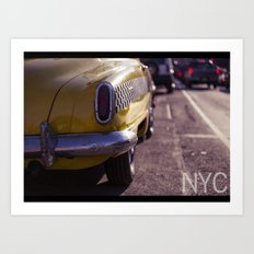 A Yellow Cab  Art Print