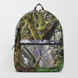 Laurisilva. Foggy mistery forest Backpack