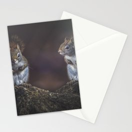 Forest Twins Stationery Cards