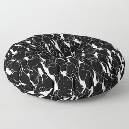 Public assembly B&W inverted / Lineart people pattern Floor Pillow