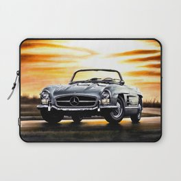 CLASSIC SL300 ROADSTER IN SILVER DURING SUNSET Laptop Sleeve