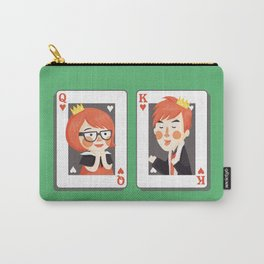 The Queen and King of Hearts Carry-All Pouch