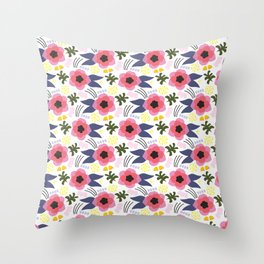Blomma No.2 Throw Pillow