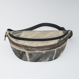 Textured Marble Popular Painterly Abstract Pattern - Black White Gray Red - Corbin Henry Fanny Pack