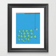 Fish Bait Framed Art Print