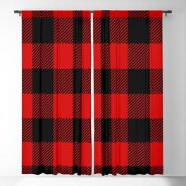 Red Lumberjack Pattern Blackout Curtain