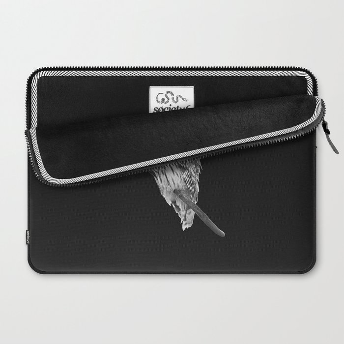 Owl, See the Moon (bw) Laptop Sleeve
