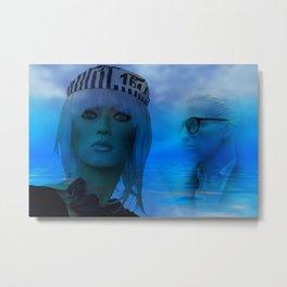 dreaming blue Metal Print