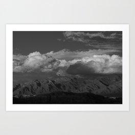 Virgin Mountains - B & W Art Print