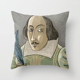 great shakespeare english writer Throw Pillow