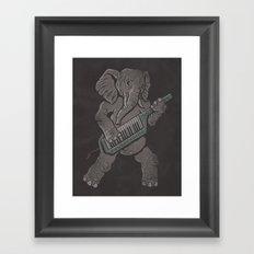 Trunk Rock Framed Art Print