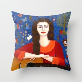 "Violeta Parra - ""Thanks to Life "" Throw Pillow"