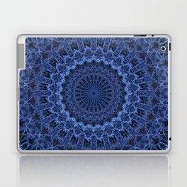 Dark and light blue tones mandala Laptop & iPad Skin