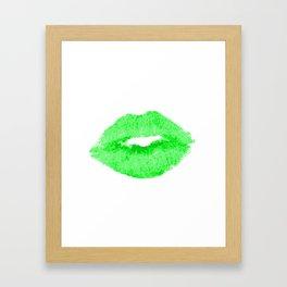 Green Smoochie Framed Art Print